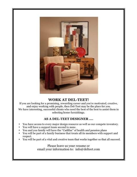 Design Ideas/Inspirations : Del-Teet Furniture