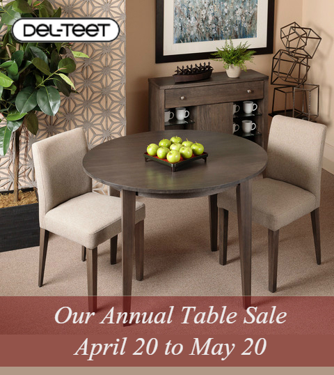 Our Table and Dining Room Sale Starts Now!