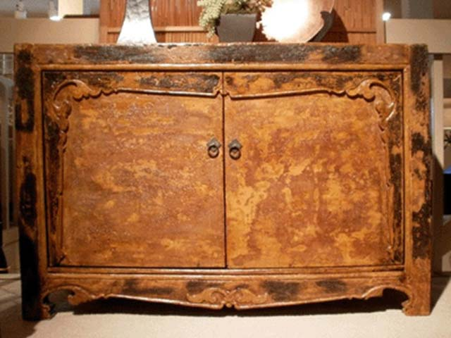 Antique or made of antique wood, Mongolian cabinets add history and beauty to any home