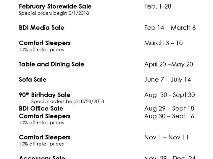 Del-Teet Sale Dates 2019